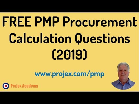 pmp exam procurement questions 2016
