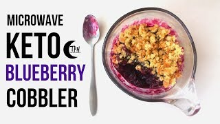 Keto Blueberry Mug Cobbler | Microwave Low-Carb Berry Cobbler Recipe