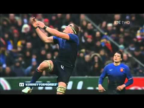 Rob Kearney kick and catch against France
