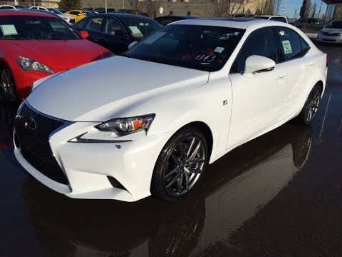 New White On Red 2015 Lexus Is 350 Awd F Sport Series 2 Review Northwest Edmonton Youtube