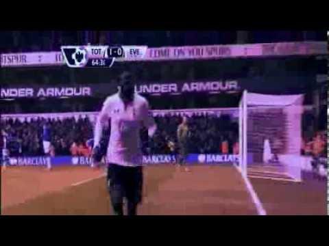 Tottenham vs Everton 1-0 Adebayor Amazing Goal !