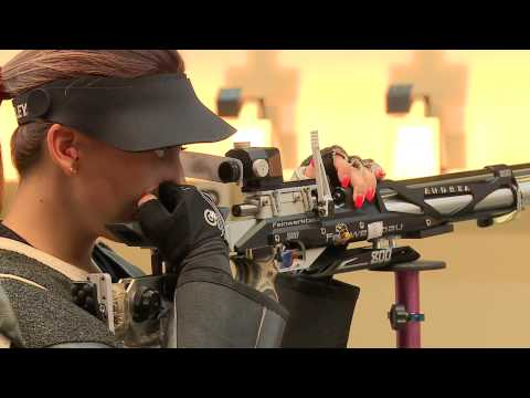 10m Women's Air Rifle final - Granada 2013 ISSF World Cup in All Events