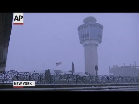 Travelers Stranded At LaGuardia Airport In NY
