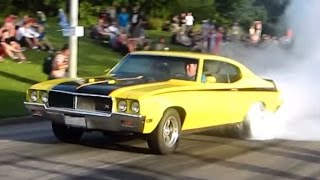 SMOKE MACHINE!! - 1970 Buick GSX 455 BURNOUTS!