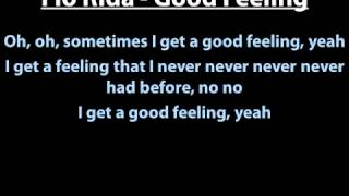 Flo Rida - Good Feeling Lyrics English