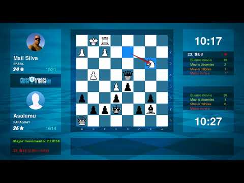 Chess Game Analysis: Mail Silva - Asalamu : 0-1 (By ChessFriends.com)