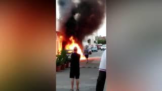 Incendio auto Campomarino