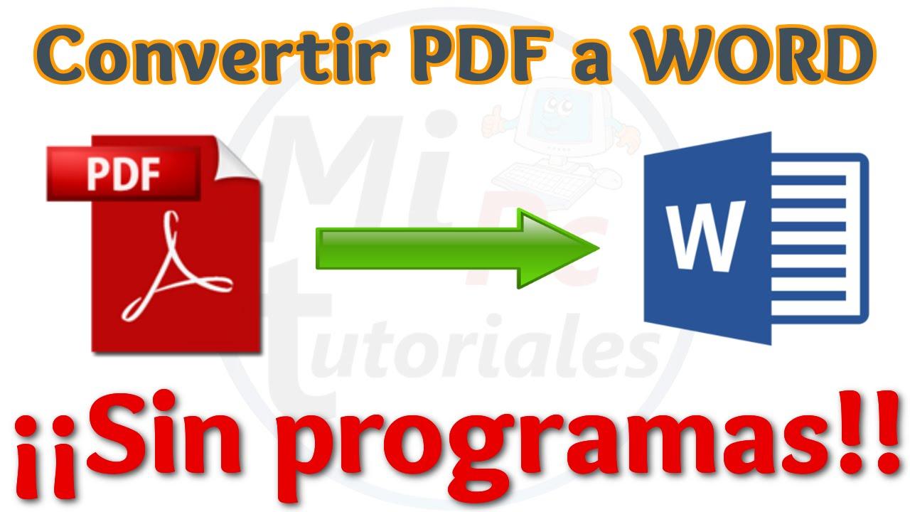 programa para convertir archivos pdf a word y excel gratis