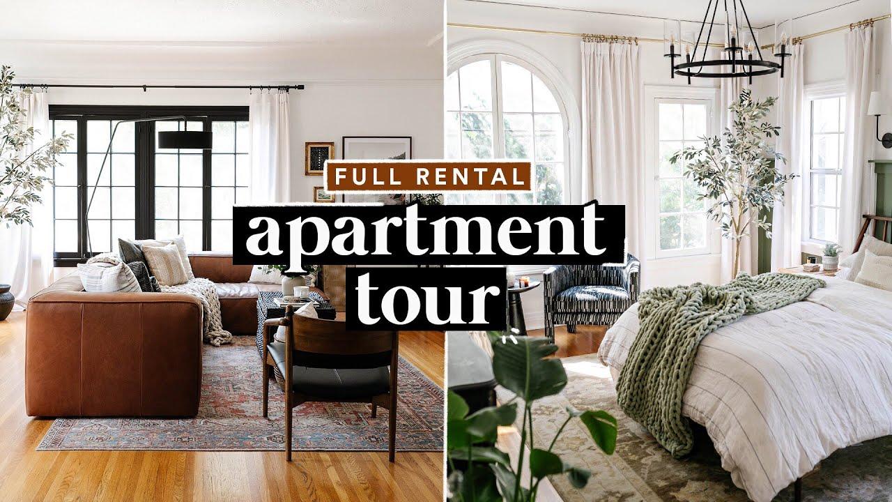 FULL APARTMENT TOUR (Renovated 1920's Rental!) ✨ Easy DIY Ideas + Organization Tips!