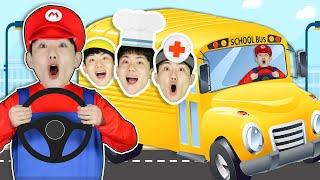 Profession Wheels on the Bus | Nursery Rhymes & Kids Songs 버스타고 학교가요 인기동요 영어동요-마슈토이 Mashu ToysReview