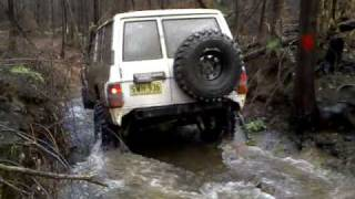gq patrol in the creek all the way along