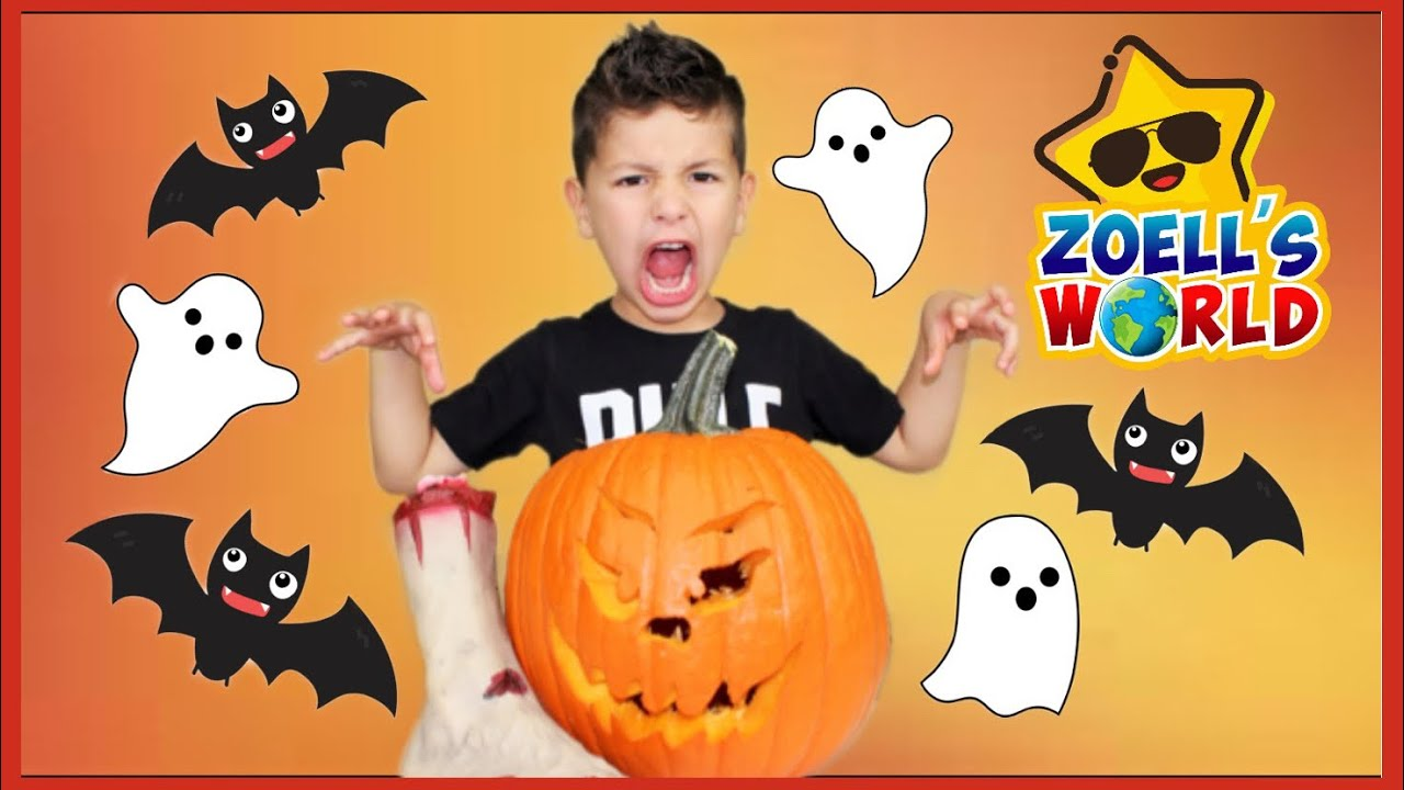 How to carve a pumpkin  kids Halloween video carving a pumpkins with Zoell, pumpkin carving ideas
