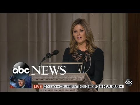 Jenna Bush Hager honors grandfather at funeral