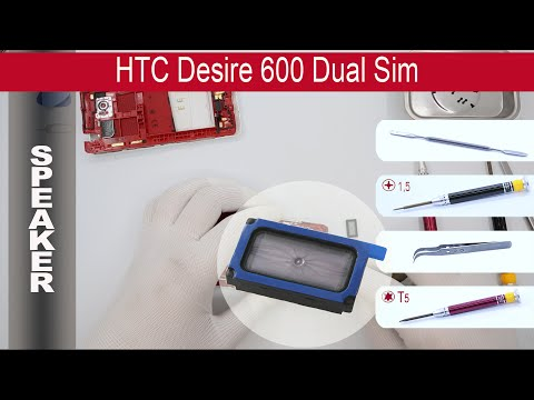How to replace 🔧 📢 Loud speaker (ear speaker) 📱 HTC Desire 600 (PO49100, PO49110)