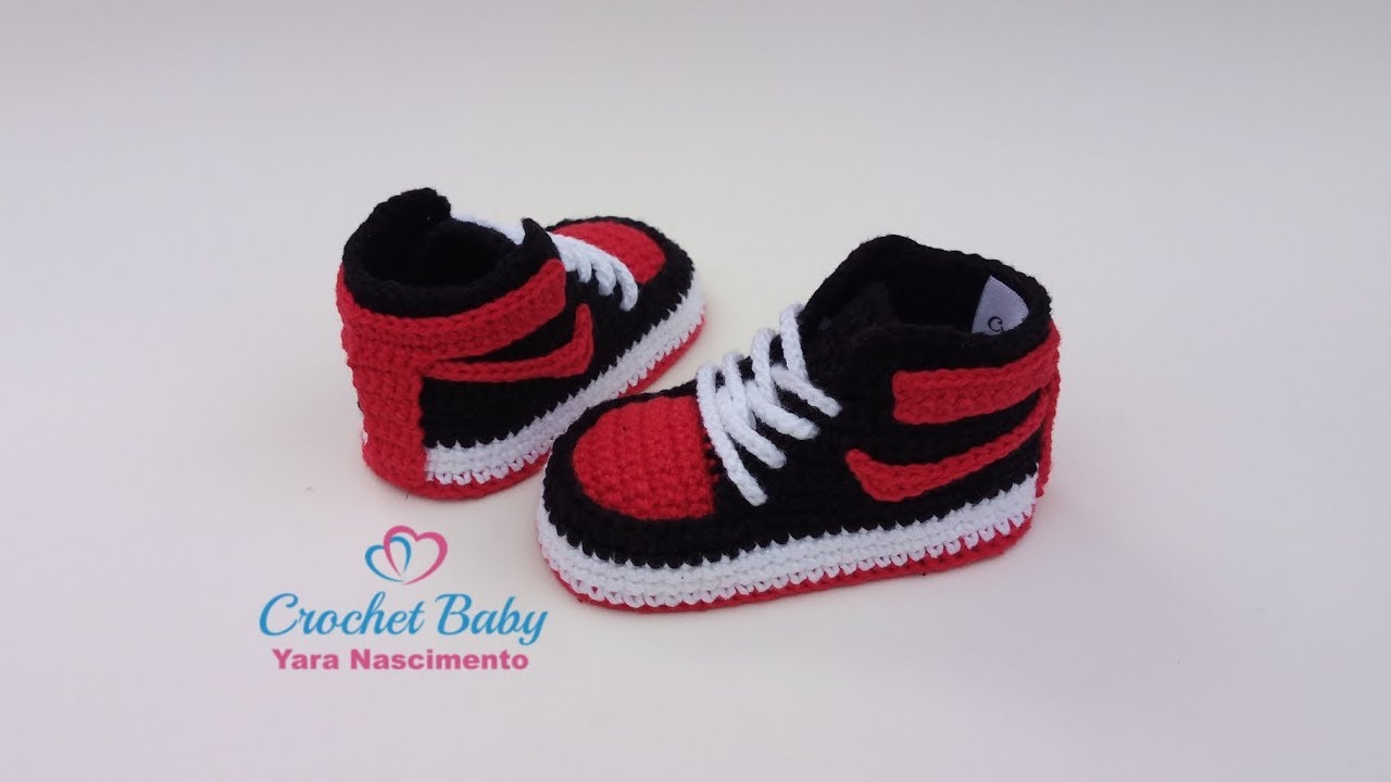4950d6833 Tênis NIKE de Crochê - Tamanho 09 cm - Crochet Baby Yara Nascimento ...