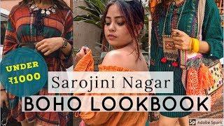 DELHI Sarojini Nagar BOHO LOOKBOOK In JUST ₹1000 | Best Shopping Experience | BANJARA LIFE