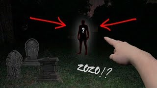 WE FOUND HIM IN THE CEMETERY!! *zozo came after us*