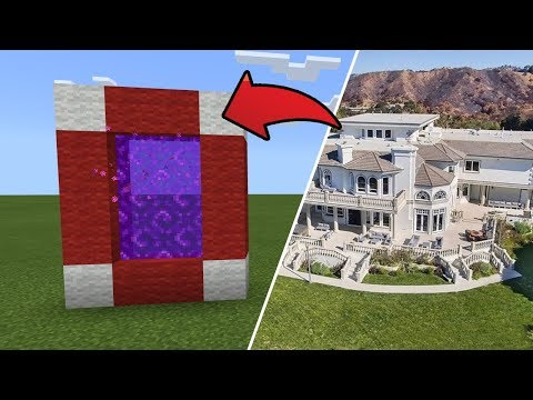 How To Make A Portal To The YouTubers City Dimension In MCPE (Minecraft PE)