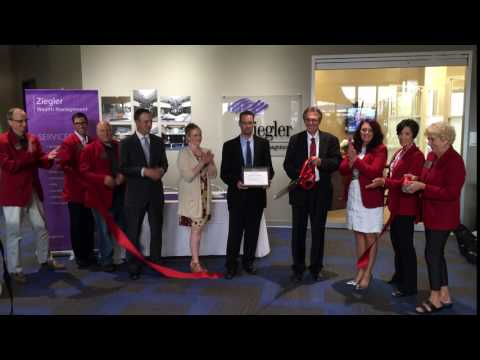 Ribbon cutting at Ziegler Wealth Management