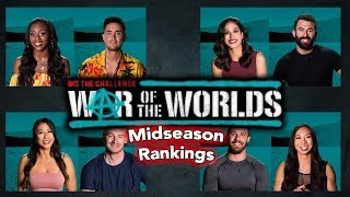 MIDSEASON RANKINGS - The Challenge War of the Worlds
