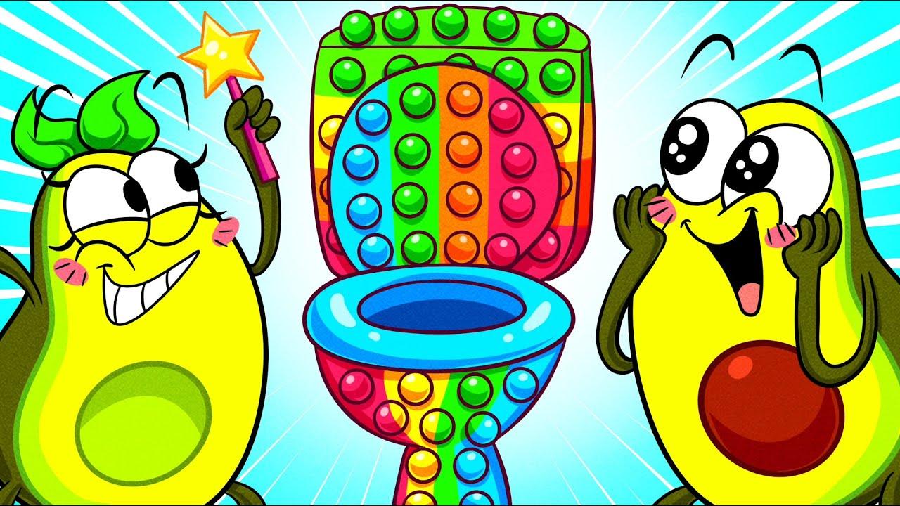 Avocado Plays POP IT CHALLENGE 🥑 MAGIC WORLD