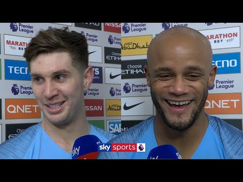 Kompany and Stones ecstatic with Man City's vital 2-1 win against Liverpool | Post-Match Interview