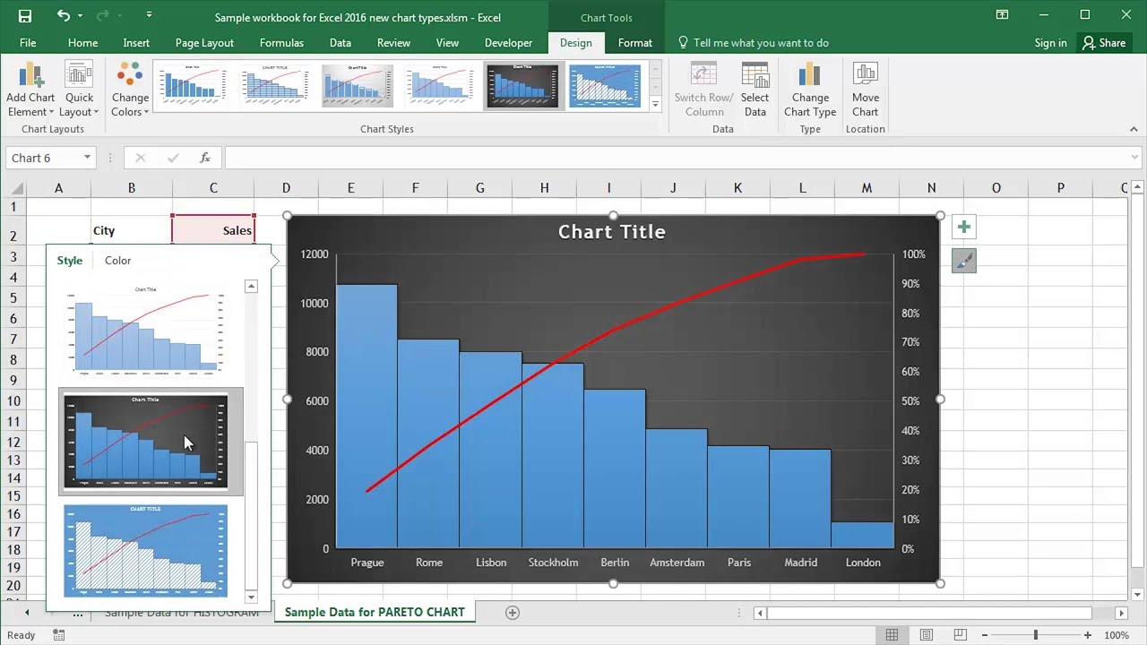 Pareto chart template excel images templates example free download microsoft excel 2016 creating pareto charts youtube microsoft excel 2016 creating pareto charts alramifo images nvjuhfo Choice Image