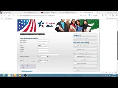 how to register for USEFP advisor for fulbright scholarship
