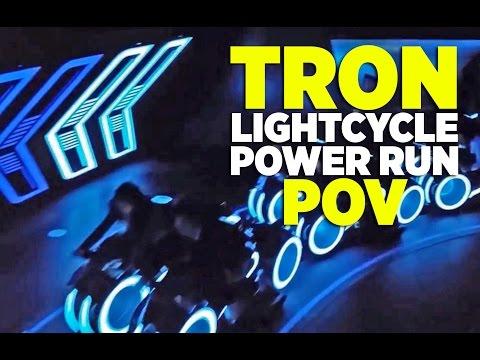 FULL POV Tron Lightcycle Power Run ride at Shanghai Disneyland