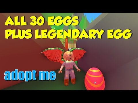 Finding All 30 Easter Eggs In Roblox Adopt Me Adopt Me Easter Egg Hunt 2019 All 30 Legendary Egg Locations Easy Youtube