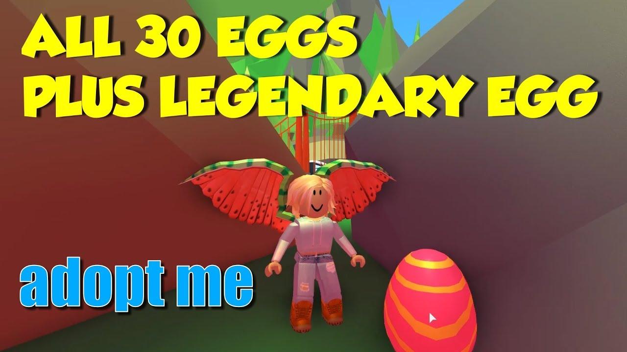 Adopt Me Easter Egg Hunt 2019 All 30 Legendary Egg Locations