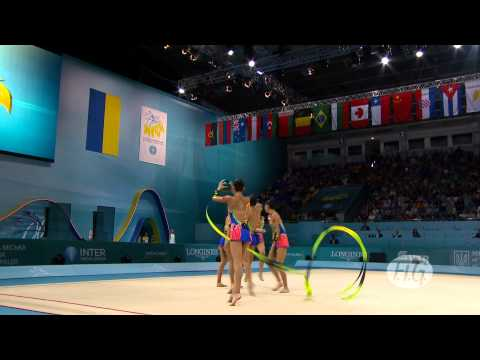 2013 Rhythmic Worlds - Kiev, Ukraine - Group Final 3 Balls/2 Ribbons - We are Gymnastics!