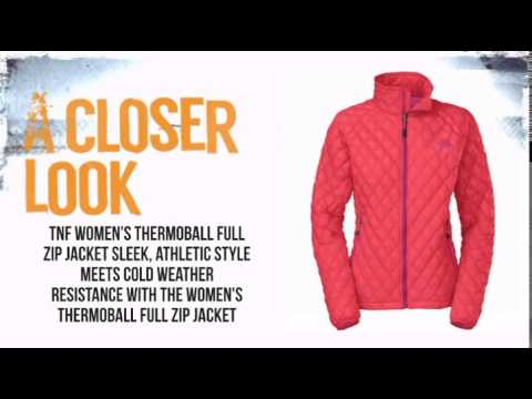 f7102068a The North Face Thermoball FulL Zip Jacket Women's- Rambutan Pink -  TheSkiBum.com - YouTube