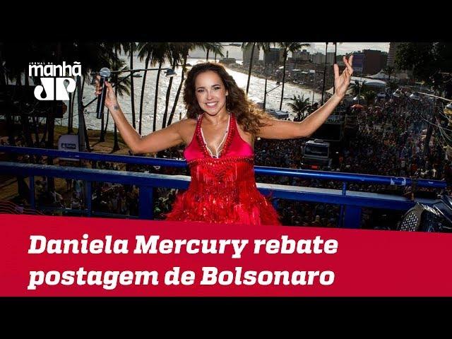 Daniela Mercury rebate postagem de Bolsonaro sobre Lei Rouanet e marchinha cantada com Caetano