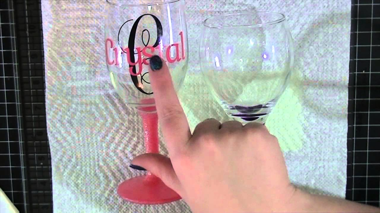 Update Video For The Personalized Wine Glasses YouTube - Wine glass custom vinyl stickers