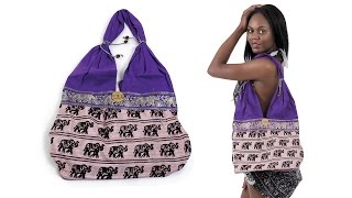 Purple African Elephant Handbag from Africa Imports