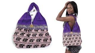 Purple African Elephant Handbag from Africa Imports
