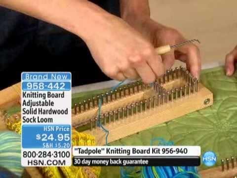 Knitting Board Adjustable Solid Hardwood Sock Loom - YouTube