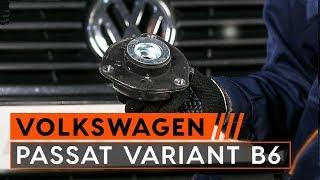 Montavimo priekyje ir gale Amortizatoriaus atrama VW PASSAT: vaizdo pamokomis