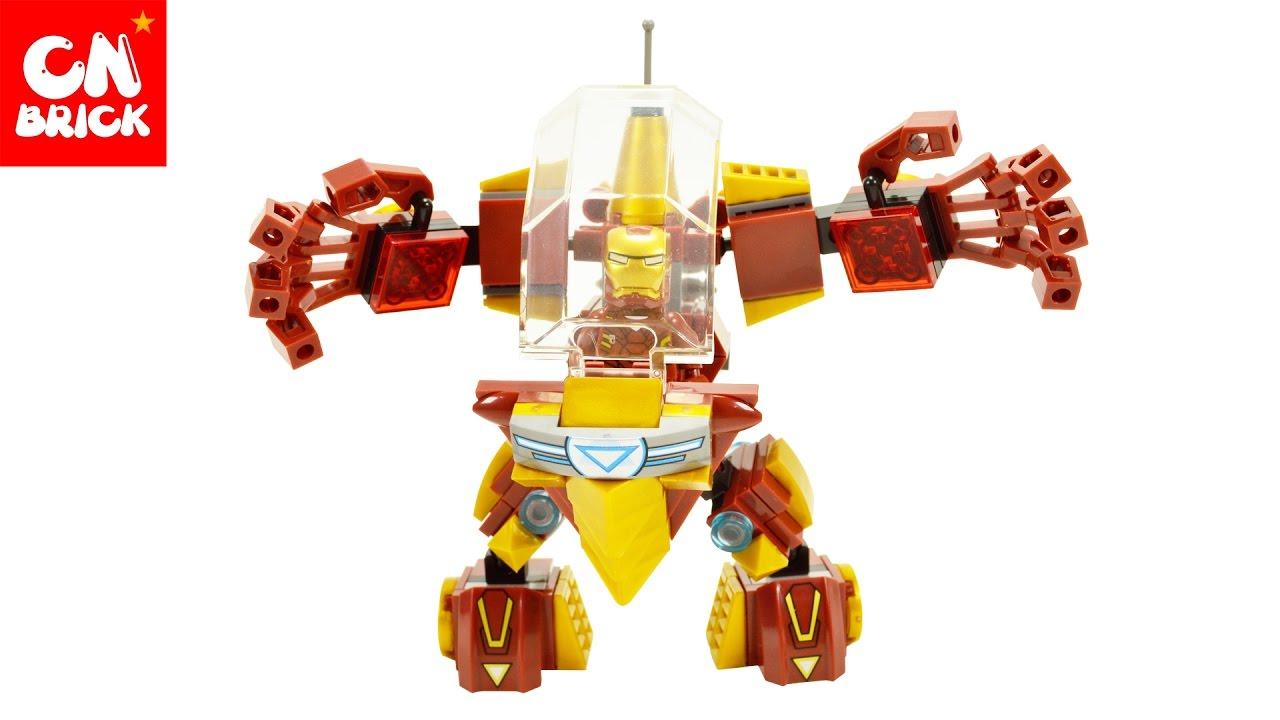LEGO KNOCKOFF IRON MAN ROBOT SY765B - YouTube