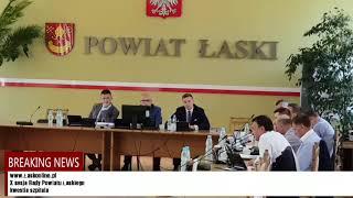 X sesja Rady Powiatu Łaskiego  kwestia szpitala