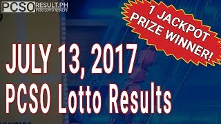 PCSO Lotto Results Today July 13, 2017 (6/49, 6/42, 6D, Swertres & EZ2)