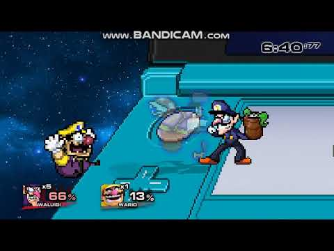 SSF2 Mods: Waluigi (Alternate Skin) (Read description)
