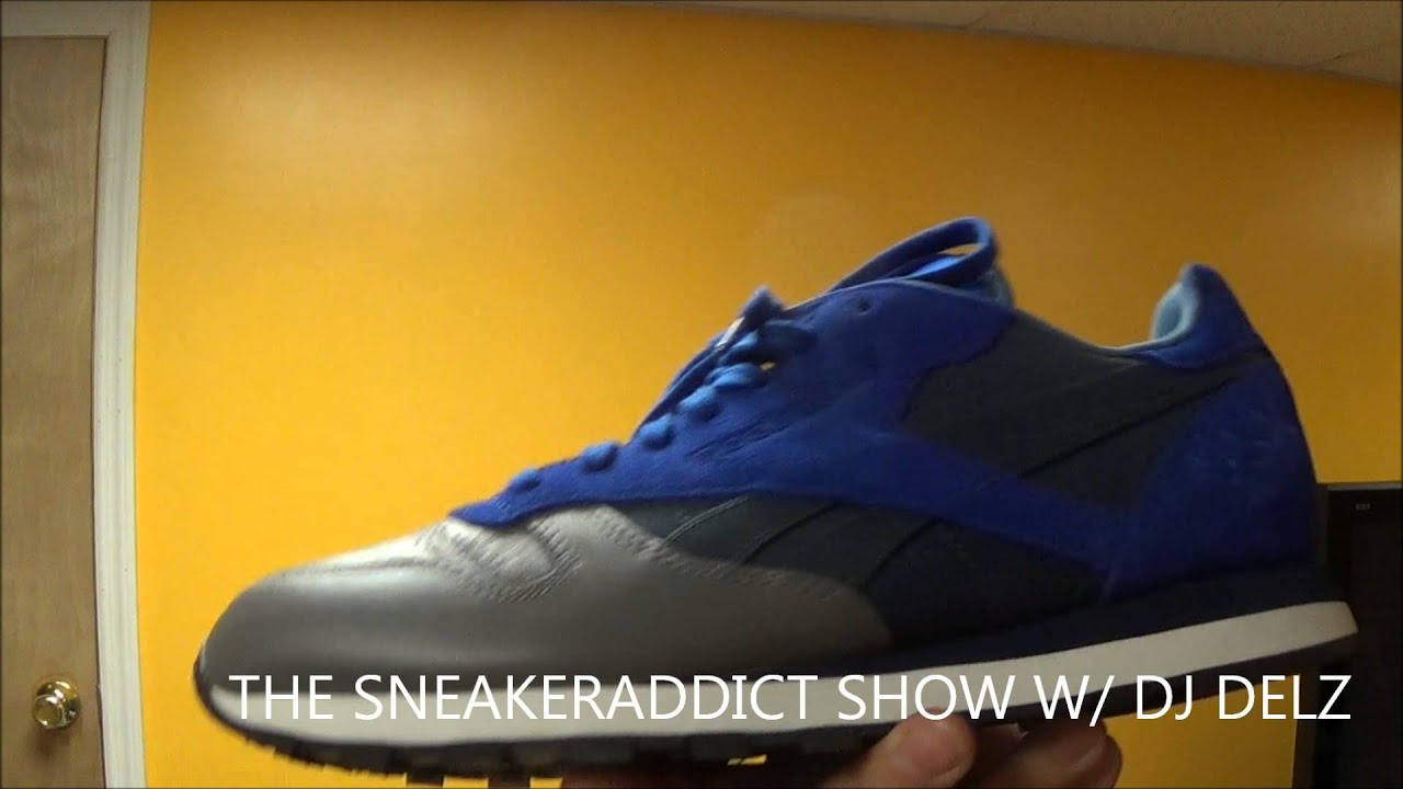 super popular 9a119 4251c STASH x Reebok Classics Leather City Pack Blue Suede Sneaker Review + On  Feet W   DjDelz Dj Delz