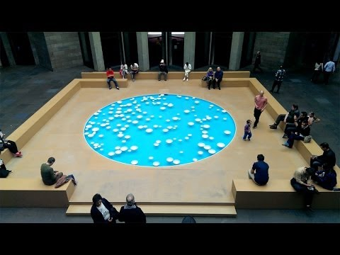 CLINAMEN 2013 by Céleste Boursier-Mougenot at National Gallery of Victoria - Melbourne, Australia