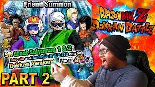NEW LR GREAT SAIYAMAN 1 & 2 SUMMONS PART 2 LIVE GLOBAL DOKKAN BATTLE!