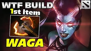 WAGA QOP WTF BUILD [1st Item Battle Fury] Dota 2
