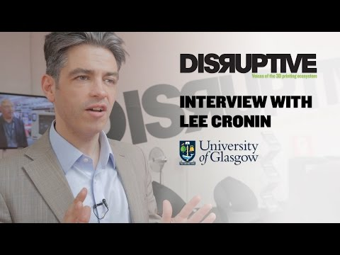 Prof. Lee Cronin discusses organic chemistry & 3D printing, via Disruptive Magazine, 2015