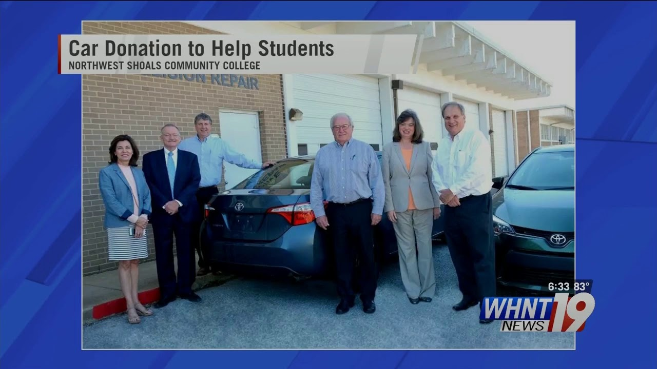 WHNT: Sen  Jones' Student Roundtable at NWSCC Results in Toyota Donation