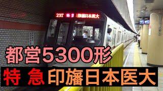 都営5300形【特急 印旛日本医大】都営浅草線三田駅にて